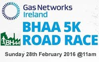 5k race in Cork City...Sun 28th Feb 2016