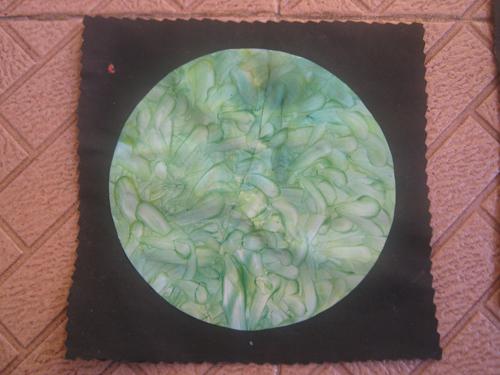 melukis pakai jari (finger painting) dan melukis dengan cat minyak