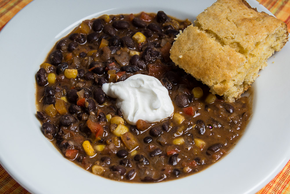 Leslie Unfinished: Good Eats: Vegetarian Black Bean Chili