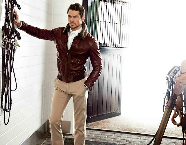 David Gandy chaqueta cuero