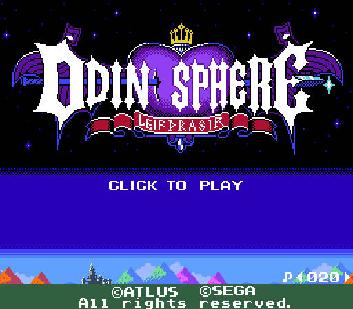 Ya disponible para jugar online la versión 8 bits de Odin Sphere
