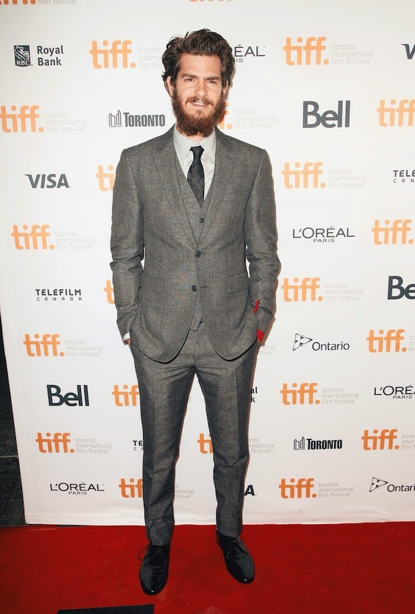 Andrew Garfield wears Burberry Tailoring Toronto International Film Festival