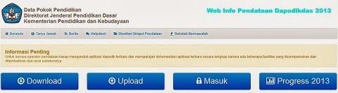 Terbaru, Buka Website Baru Info Pendataan Untuk Dapodikdas 2013