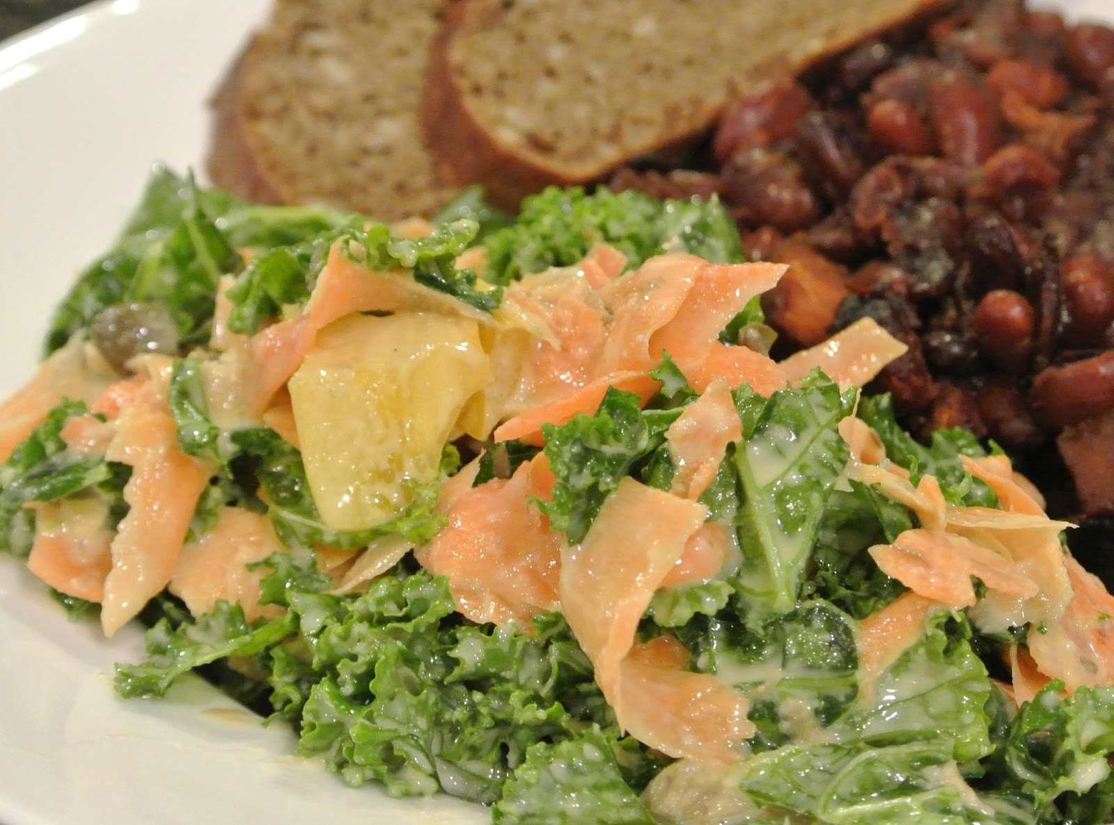Kale Salad with Tahini Dressing | Start with an onion . . .