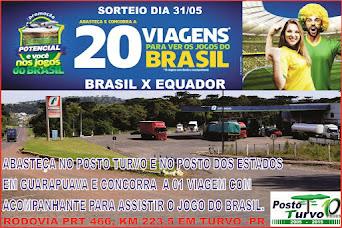 Abasteça no Posto Turvo e no Posto dos Estados em Guarapuava e concorra a 01 viagem com acompanhant