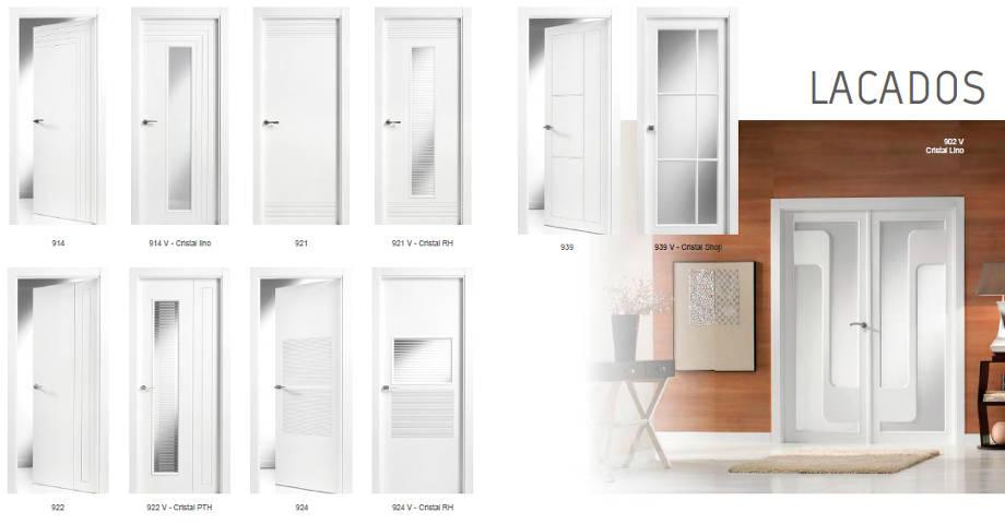 Karpinteria puertas armarios y tarimas puertas de interior de madera for Precio puertas blancas