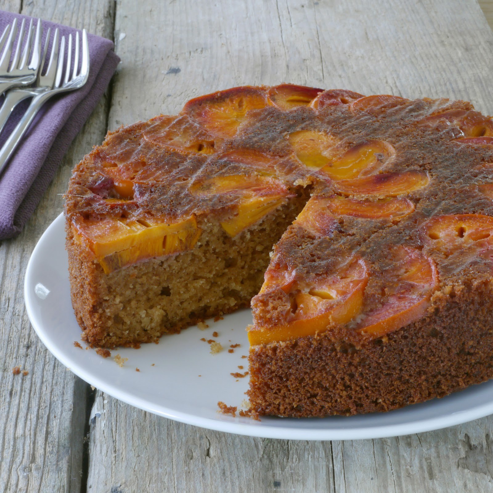persimmon upside down cake makes 1 8 inch cake 4