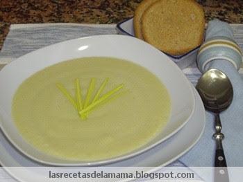 Las recetas de la mam receta de vichyssoise o crema de for Entrantes tipicos franceses