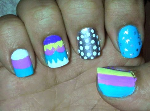 nail art, easter egg, nail polish, acrylic paint, mani monday, guest blogger, nails, polish addict,
