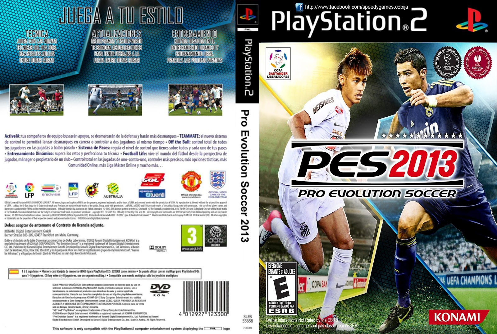 Pro Evolution Soccer 2013 PS2 [ESP][NTSC-PAL][Torrent]