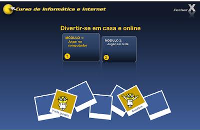 CURSO DE INFORMÁTICA E INTERNET - DIVERTI-SE EM CASA E ONLINE