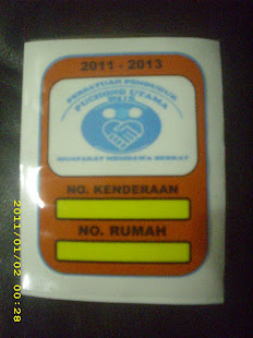 STICKER KENDERAAN PU 5 2011-2012