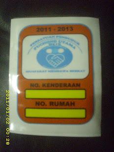 STICKER KENDERAAN PU 5 2011-2012
