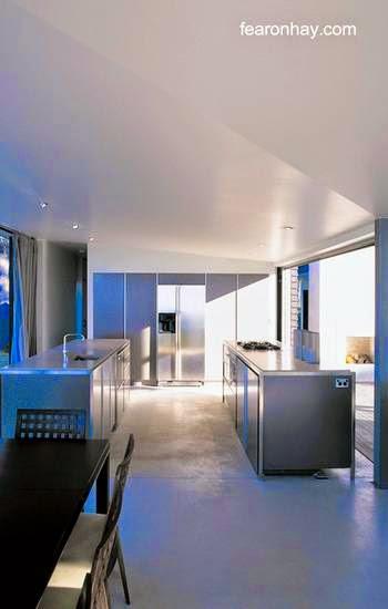 Arquitectura de casas: cabaña vanguardista de playa en nueva zelanda.