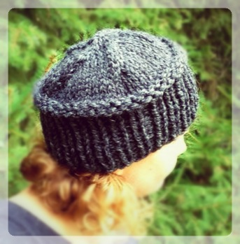 Knitting Pattern For Flat Hat : HAND MADE - RUKODELKY: Trendy Knits - Hat And Asymmetrical ...