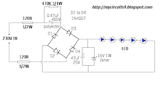 simple lamp driver circuit 230V