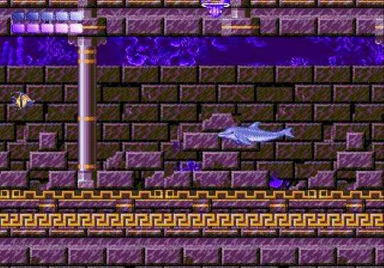 Ecco the dolphin genesis game screenshot ruins