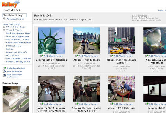 Gallery a web based photo album viewer and editor