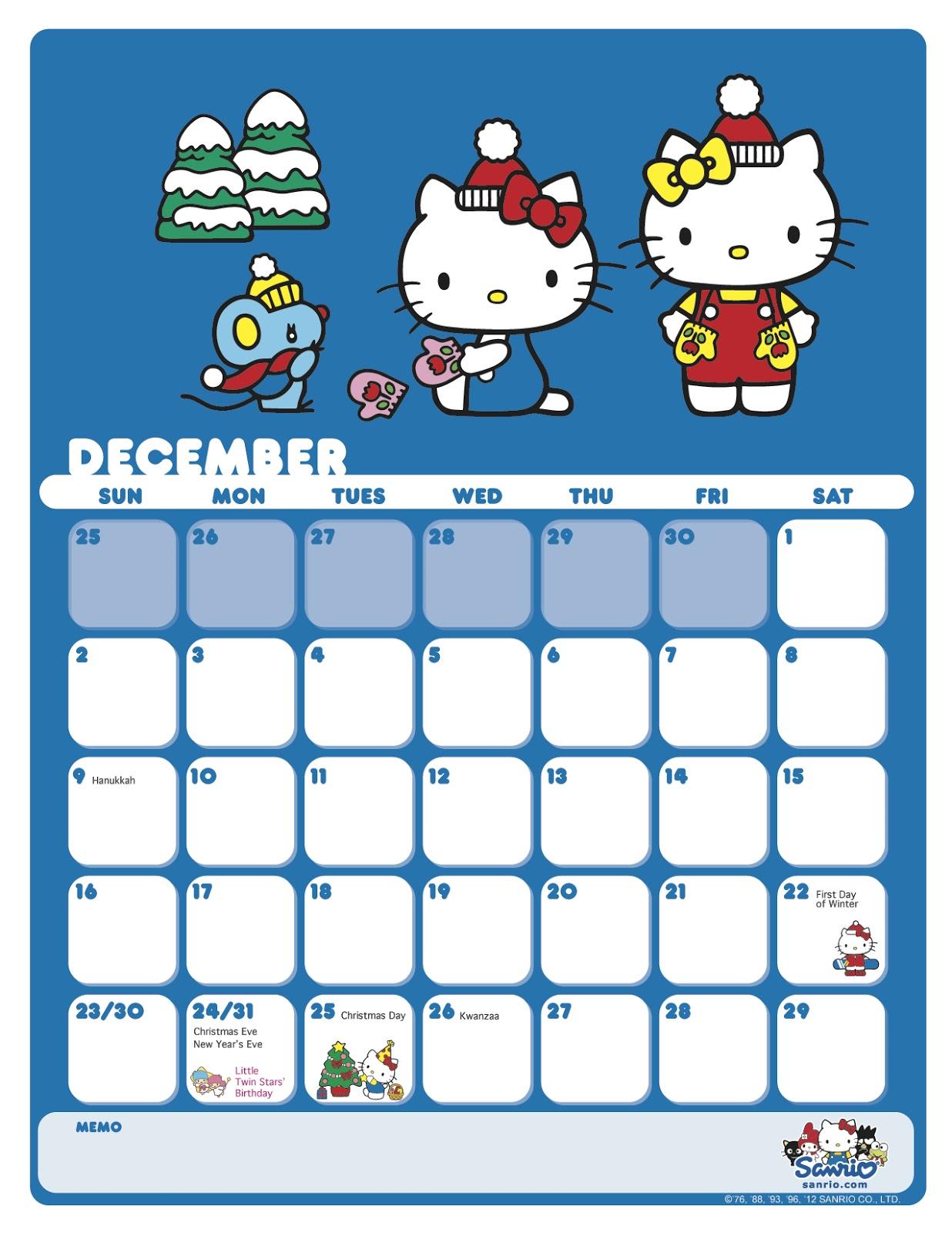 Cute December 2015 Calendar Printable | Calendar Template 2016