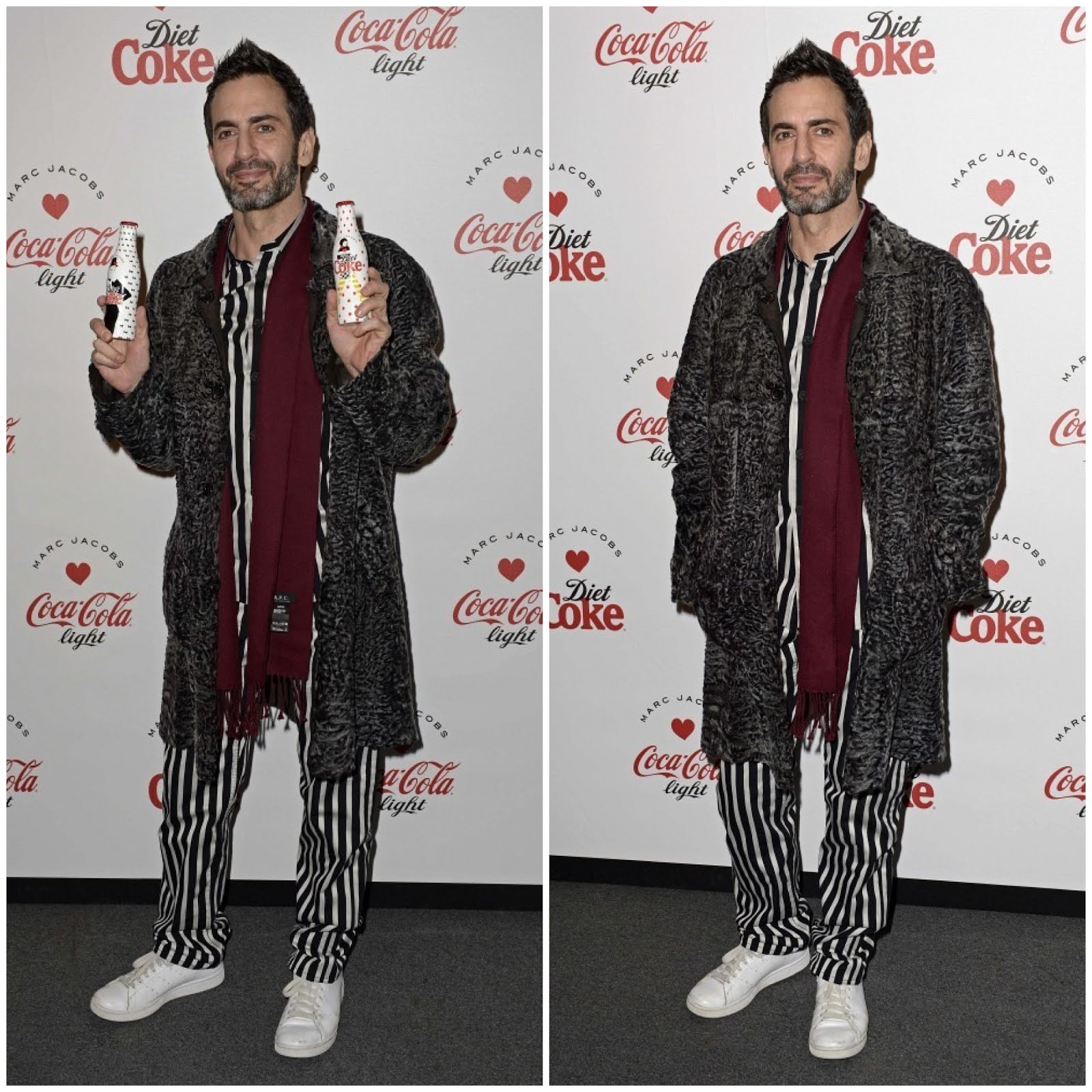 00O00 Menswear Blog The Diet Coke and Marc Jacobs official partnership launch party at the German Gymnasium, 26 Pancras Road, London. Marc Jacobs in pyjamas, Marc by Marc Jacobs?
