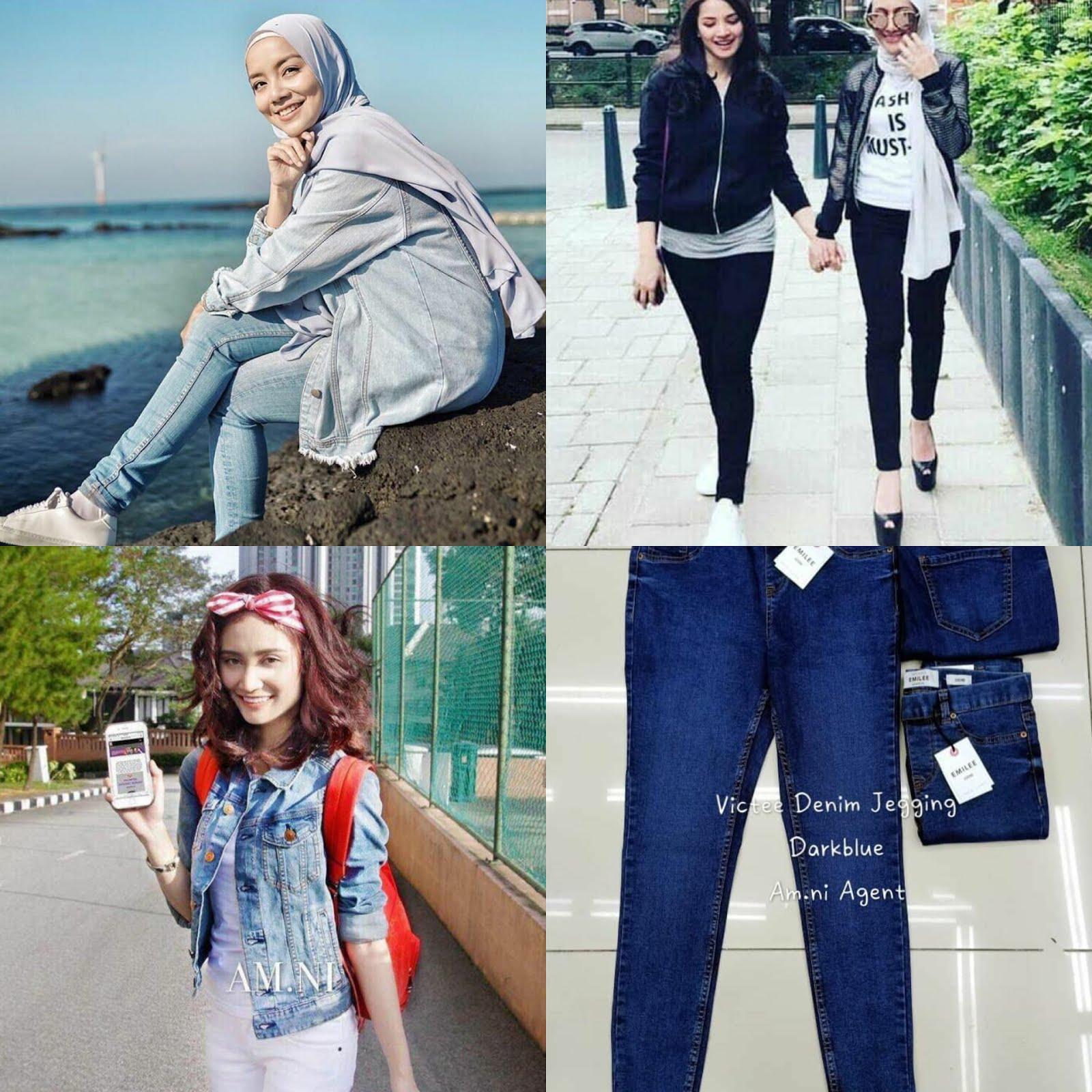 Pelbagai pilihan koleksi denim jeans mira filzah ada, jacket ayda jebat ada, jeans fazura pakai pun