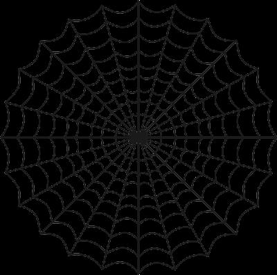 Desenho de teia de aranha para colorir