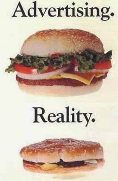 Funny Advertisement Burger Vs Real Burger delivery