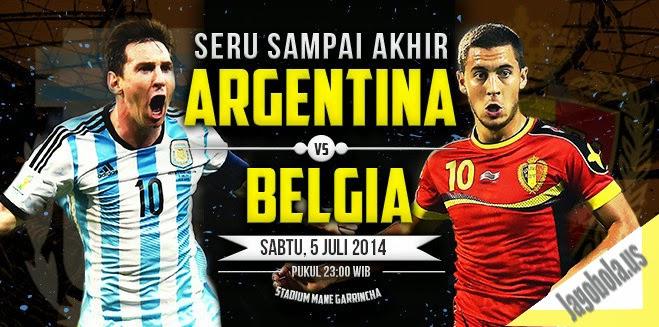 Preview Argentina vs Belgia 5 Juli 2014 Perempat FINAL Piala Dunia