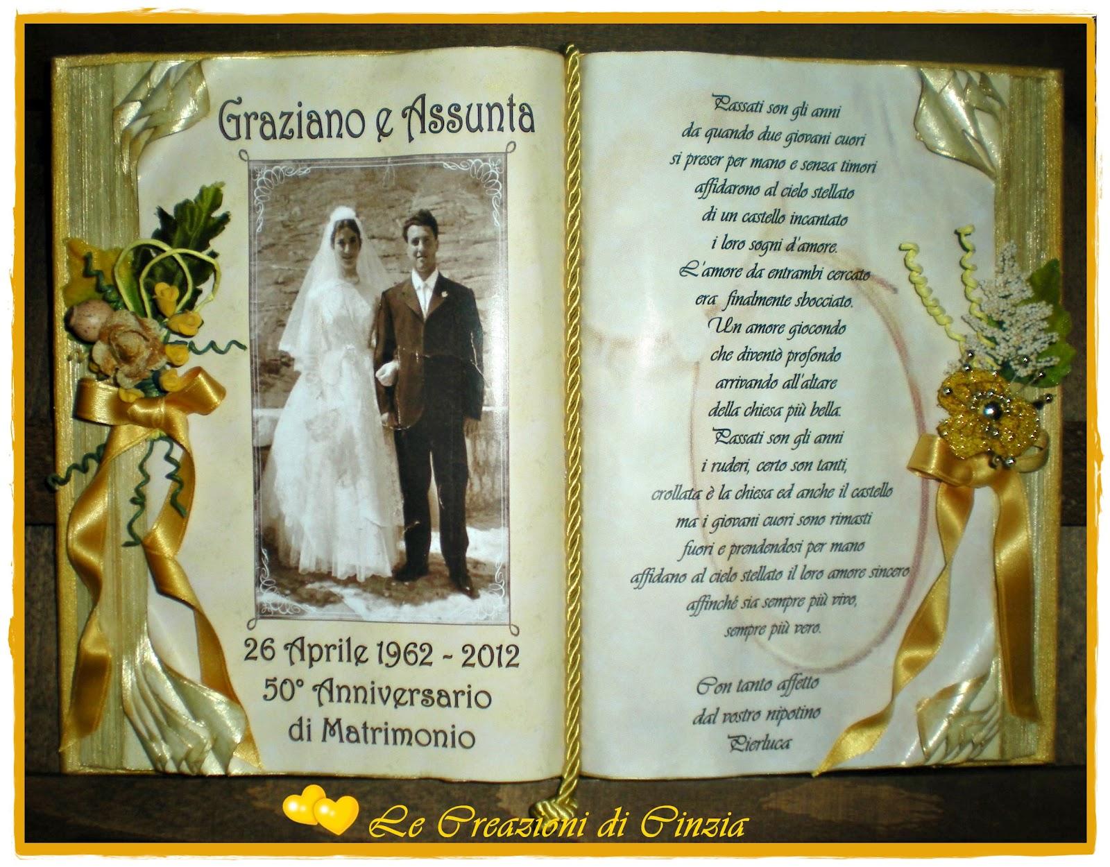 Le creazioni di cinzia nozze d 39 oro for Idee regalo per venticinque anni di matrimonio