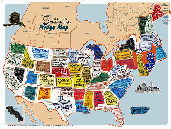 Things I Think I Think USA Magnet Map - Travel map us
