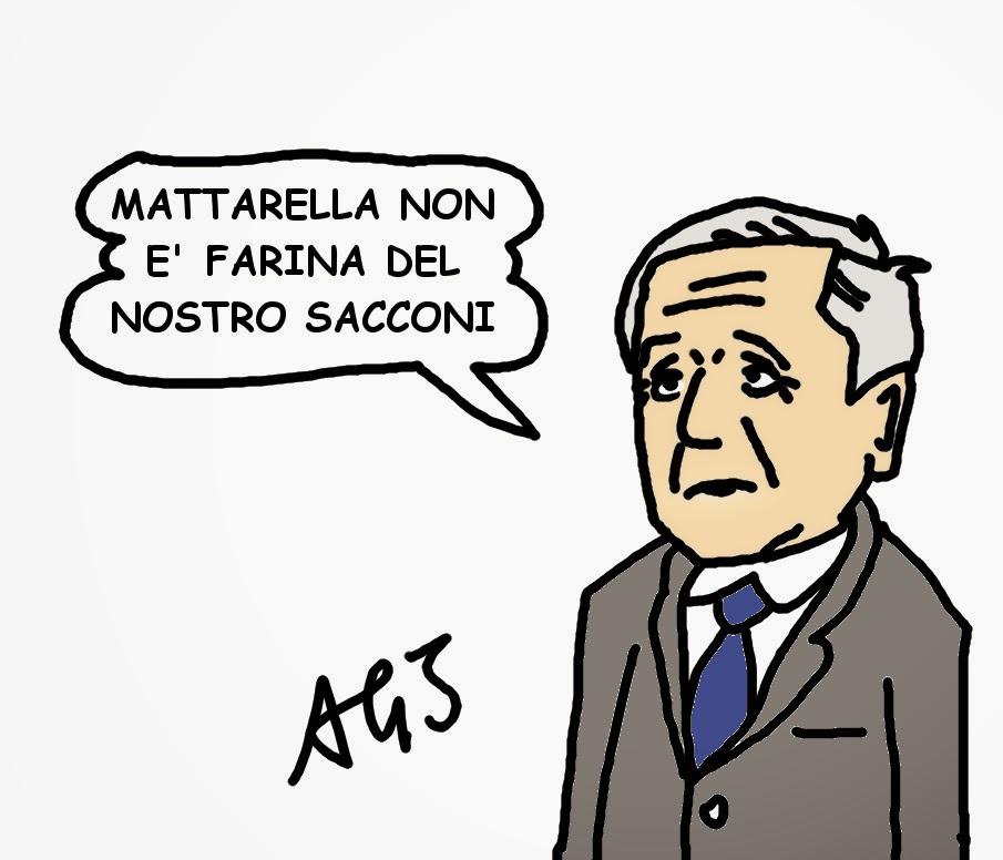 Sacconi, Mattarella, NCD, Alfano, presidente vignetta satira