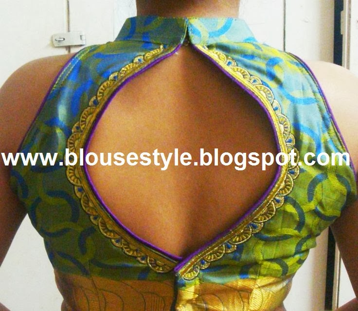latest wedding back neck blouse