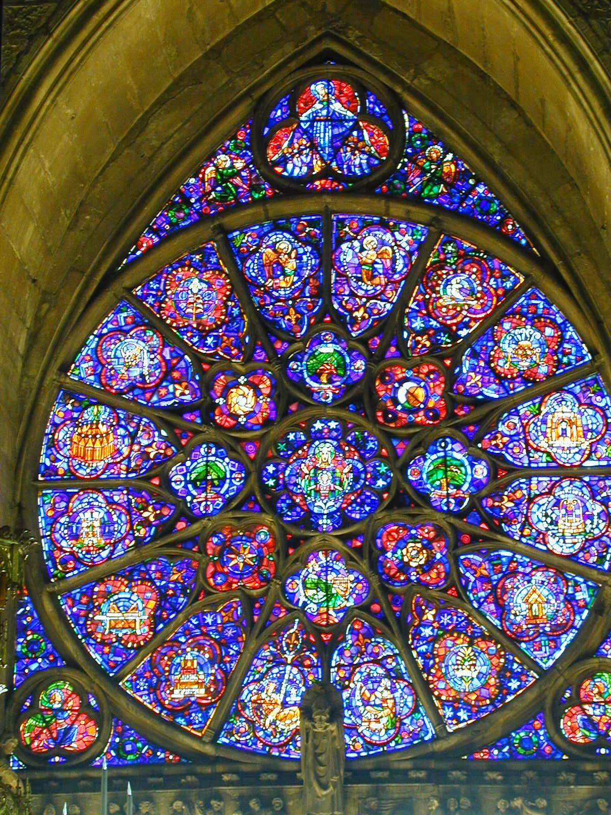 OLarge Stained Glass Windows