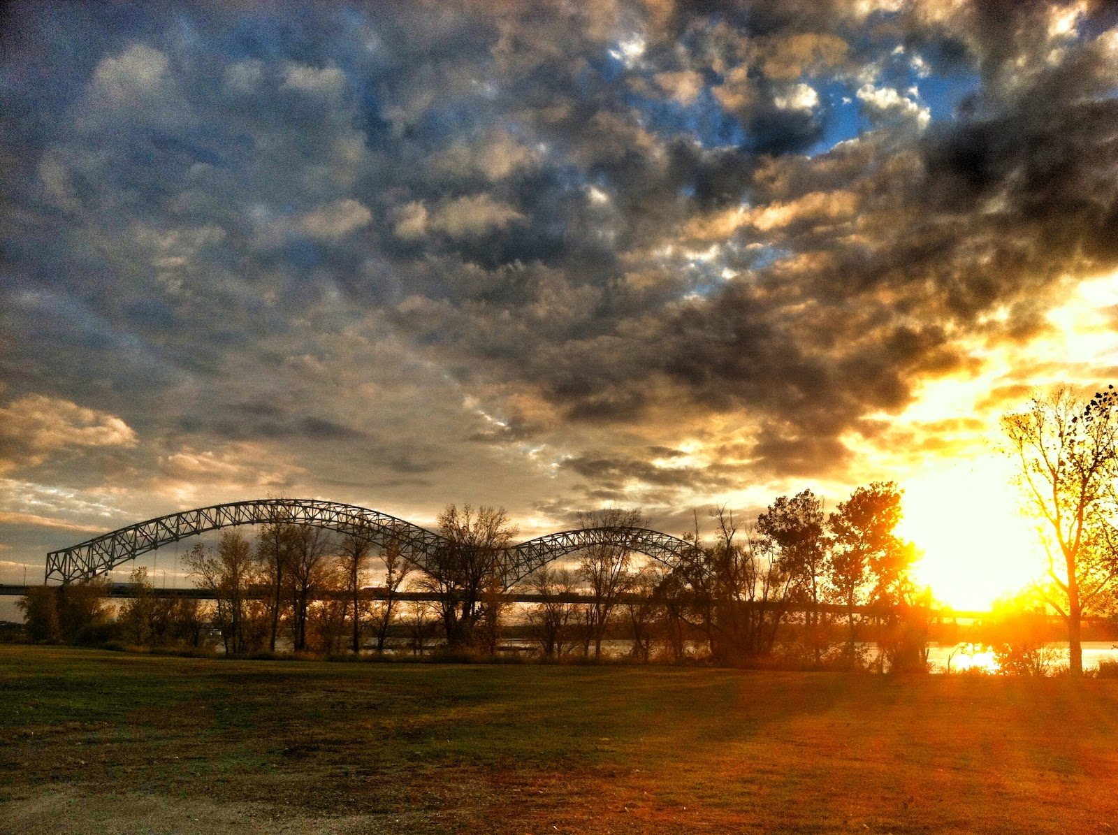Sunset Over The Bridge - Memphis Tennessee