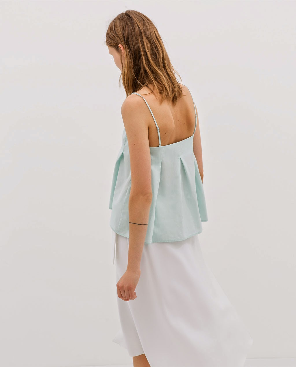Top, Zara, street style, green, blue, style