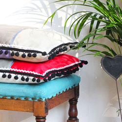 fabric sample cushions