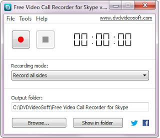تحميل برنامج تسجيل مكالمات فيديو وصوت من سكايب Free Video Call Recorder for Skype