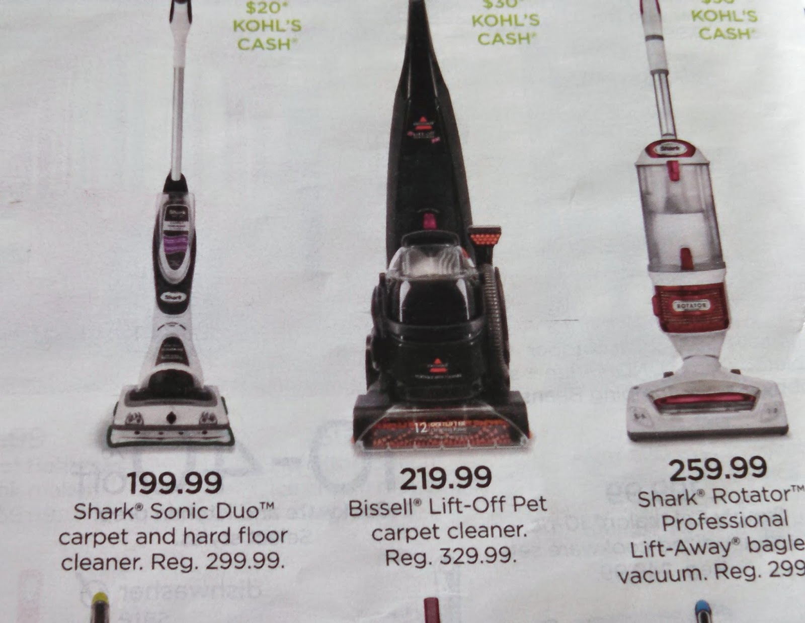 Good Thing I Checked My Ads- Kohl's had the best price on a Bissel Lift-Off