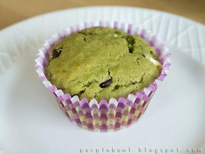 Chocolate chips green tea muffins recipe