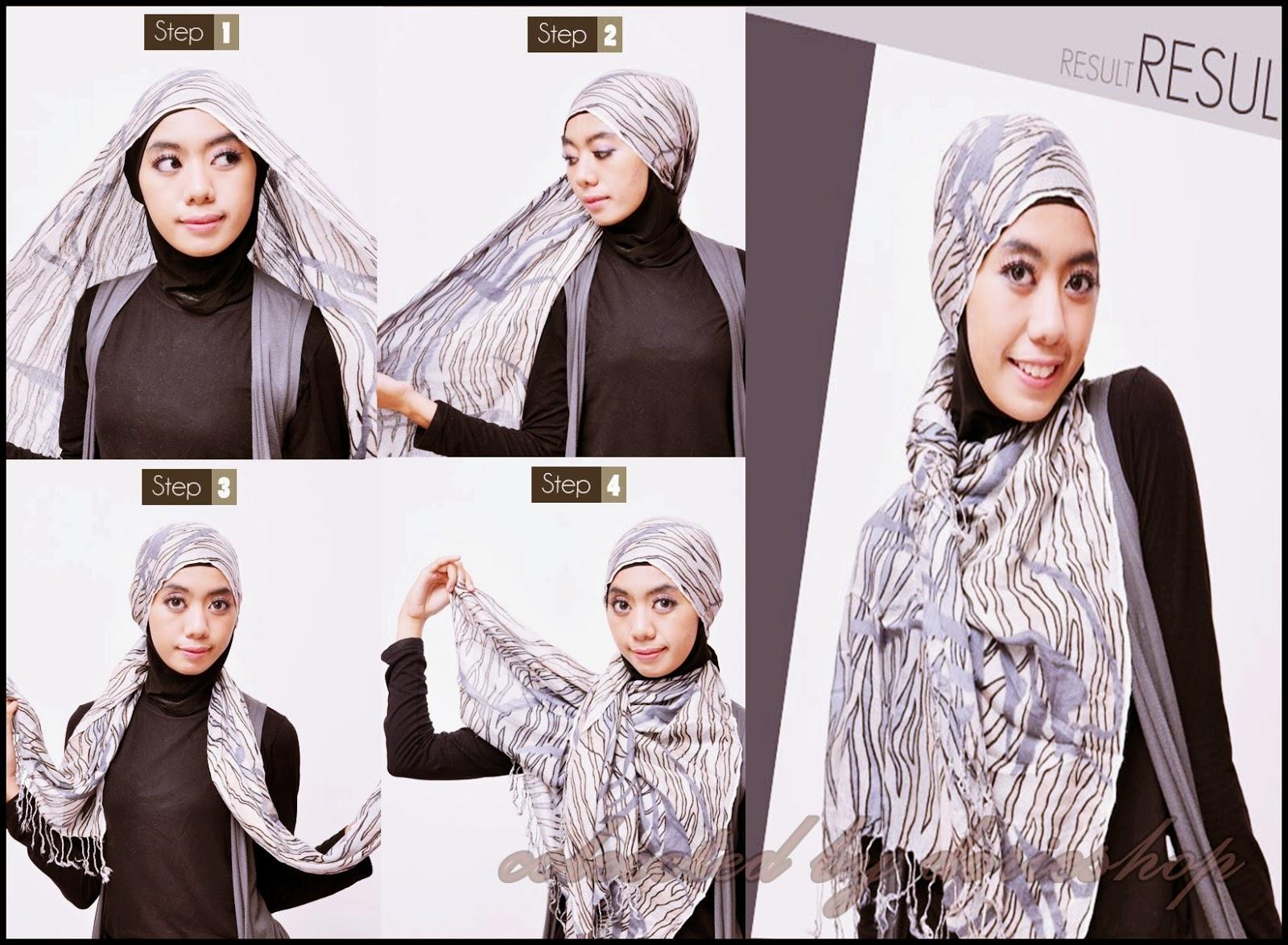 17 Tutorial Hijab Pashmina Bahan Ima Tutorial Hijab Terbaru