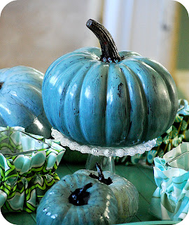 image turquoise Pumpkin Halloween decorating