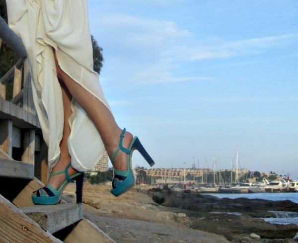 Preciosos zapatos Pedro Miralles tonos turquesa