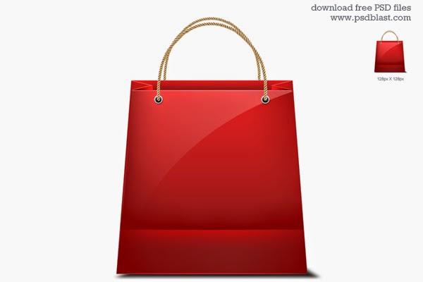 Shopping Bag Icon PSD