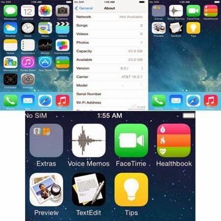 Tampilan iOS 8