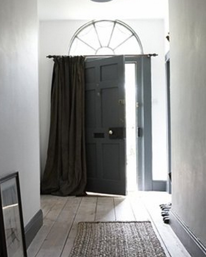 Hang A Similar Curtain Over The Front Door It Is Made Of Two