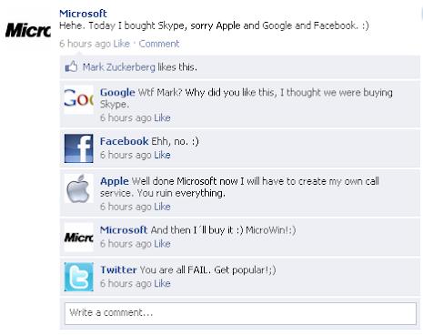 Fake Facebook wall