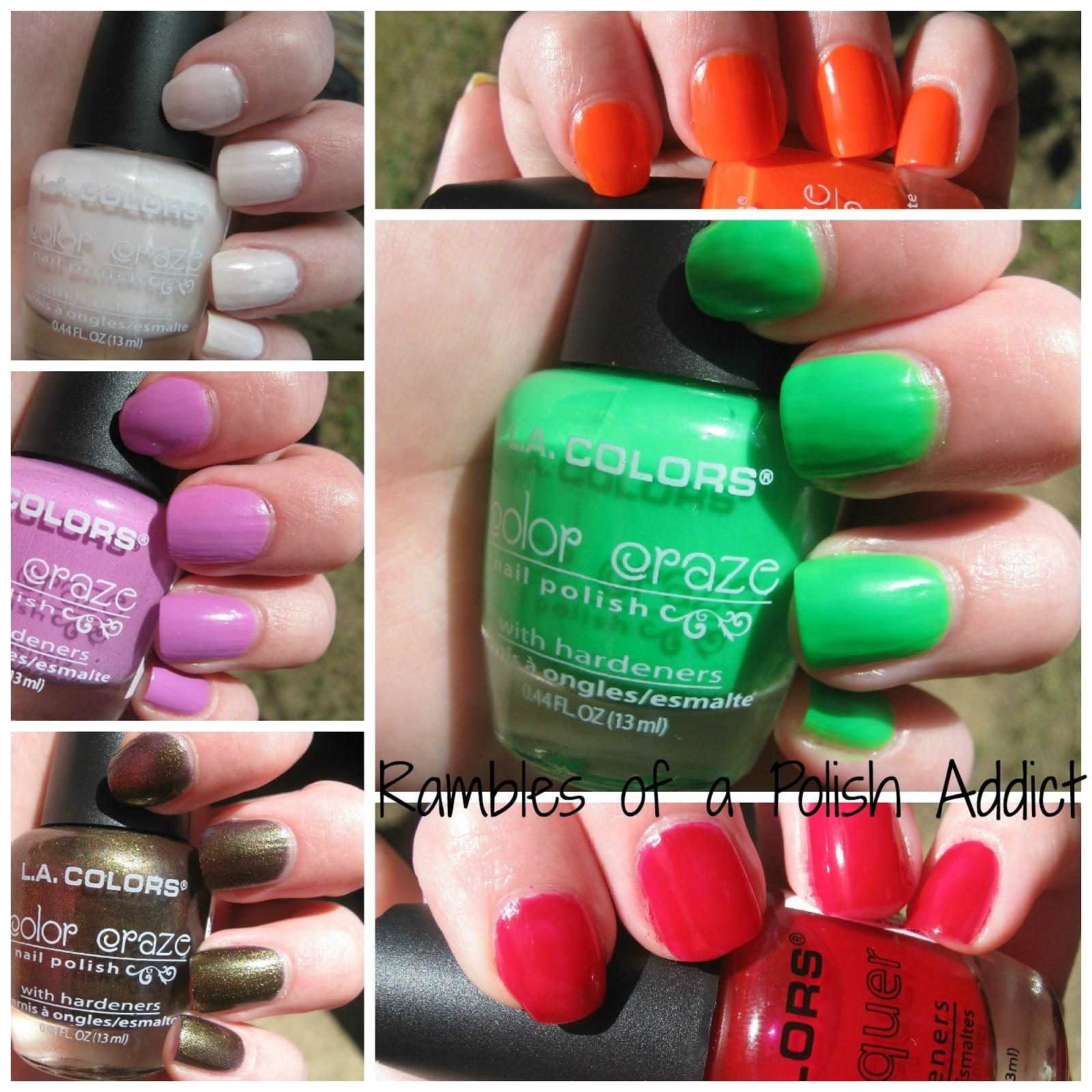 La Colors swatches | Rambles of a Polish Addict