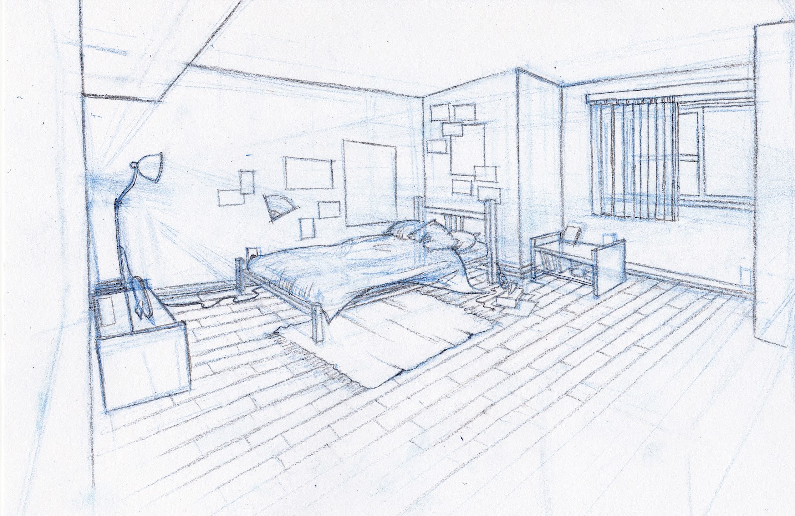Sarah kujubu research drawing bedroom for 3d bedroom drawing