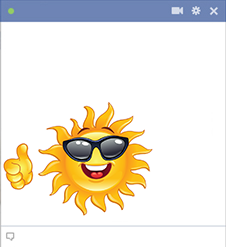 Facebook Sun Smiley