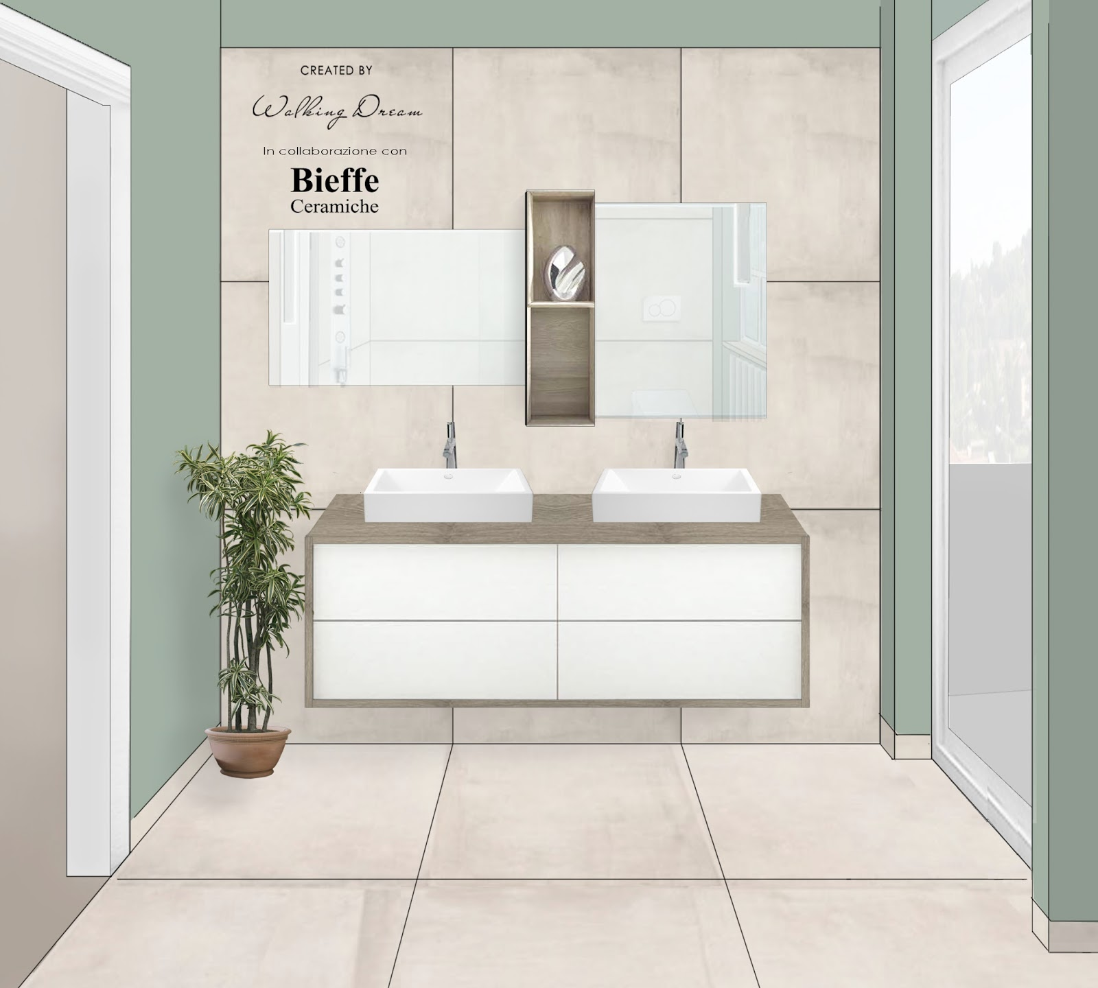 Walking dream sage green bathroom project - Bagno verde salvia ...